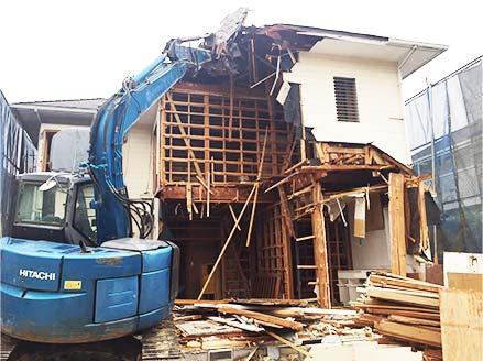 木造家屋の解体の画像